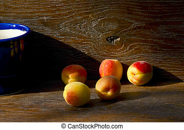 Apricots in the light of the setting sun