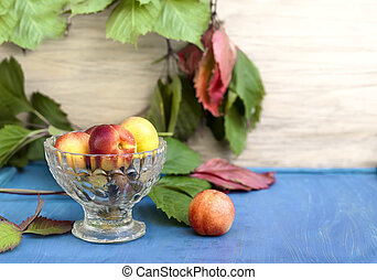 Apricots In Vase