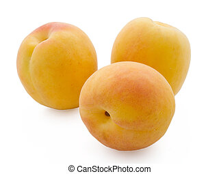 Apricots isolated on a white background