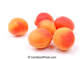 apricots isolated on white