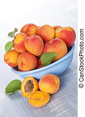 Apricots still life, rustic country style.