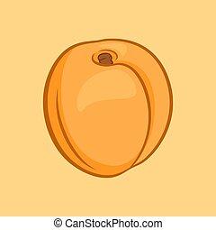 aprikose, ikone
