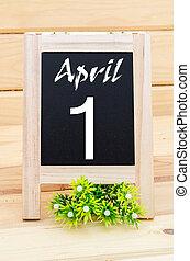 April 1st Fool's Day Blackboard.
