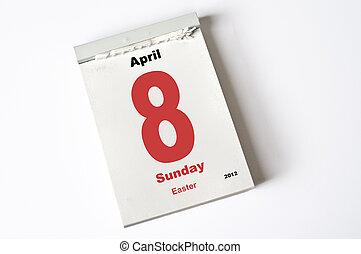 april, 2012, 8., påsk