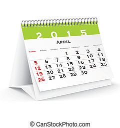 April 2015 desk calendar