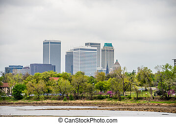 April 2015 - Stormy weather over Tulsa oklahoma Skyline