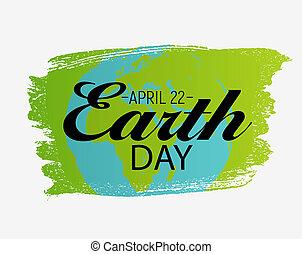 April 22, Earth Day Background Illustration
