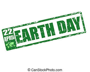 earth day stamp - april 22 - earth day stamp