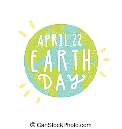 Happy earth day 22 april abstract logo design world map clip earth day gumiabroncs Images