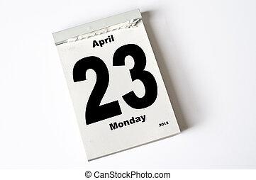 april, 23., 2012