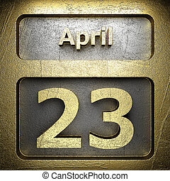 april 23 golden sign