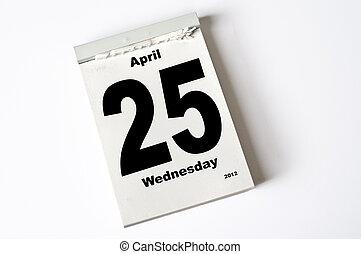 april, 25., 2012
