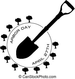 April 27 Arbor Day - Symbol for the April professional...