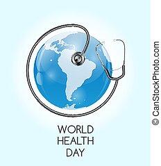 April 7, World Health Day Background. Vector Illustration