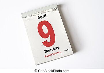 april, 9., påsk, måndag, 2012