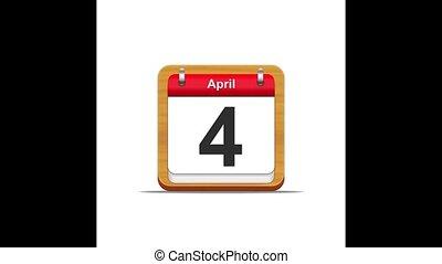 April calendar.