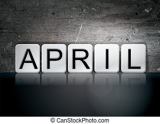 April Concept Tiled Word