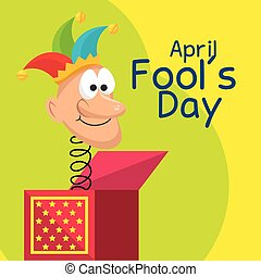 april dummkopf- tag, karte, feier