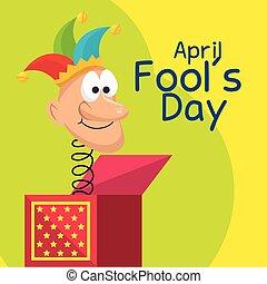 april fools day celebration card