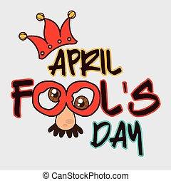 April fools day card design, vector illustration.