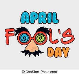 April fools day design. - April fools day card design,...