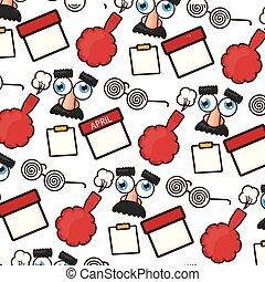funny glasses cushion calendar background vector illustration