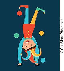 april fools day over blue background vector illustration
