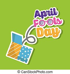 april fools day lettering jump on prank box vector...