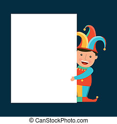april fools day over blue  background vector illustration