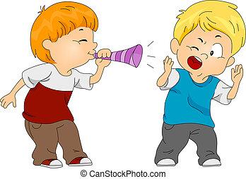 April Fool's Prank - Illustration of a Boy Pulling a Prank...