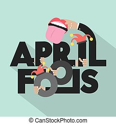 April Fools Typography Design.