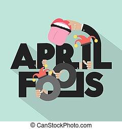 April Fools Typography Design.