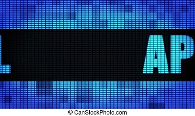 April Front Text Scrolling LED Wall Pannel Display Sign...