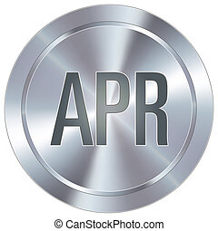 April icon on industrial button