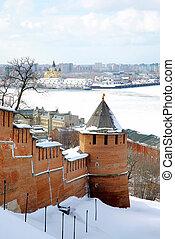 April in Nizhny Novgorod Kremlin Russia