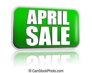 April sale green banner
