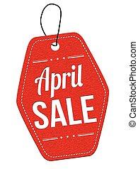 April sale label or price tag