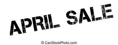 April Sale rubber stamp