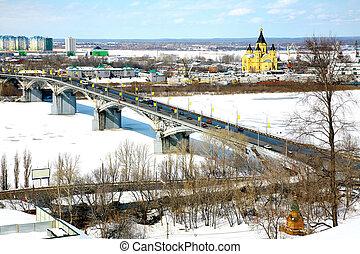 April spring view of Nizhny Novgorod Russia