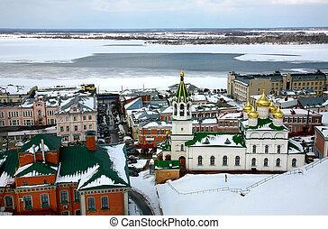 April view Church Nativity of John the Precursor Nizhny Novgorod Russia