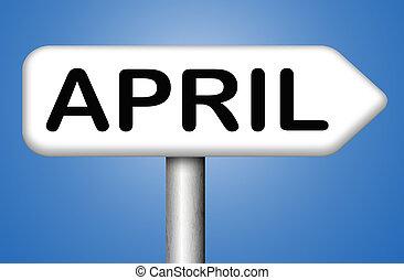 april, volgende