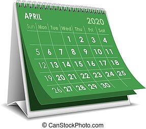 aprile, 2020, calendario