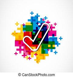 aprobar, aprobado, colorido, señal
