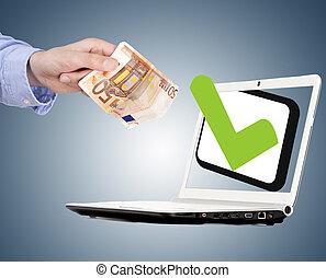 aprobraci?n, pojęcie, z, ok, graficzny, handlowy, fundusze
