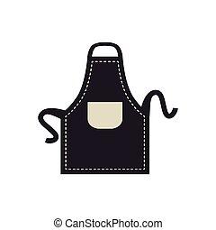 apron icon. Bakery supply design. Vector graphic