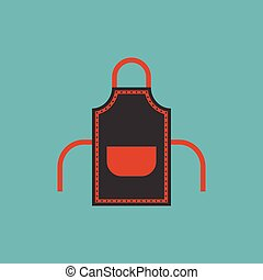 apron icon, flat design vector