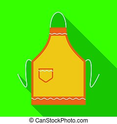 Apron icon in flate style isolated on white background.