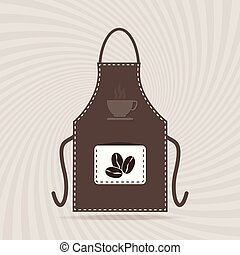 Apron icon, kitchen cooking sign
