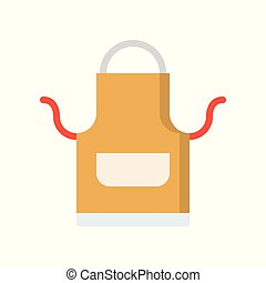 apron, kitchen and cooking icon flat design