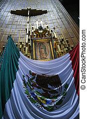 Apron of Juan Diego in Basilica - Cross, apron of Juan Diego...